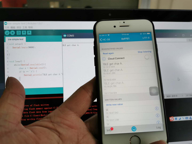 Arduino入门项目-ble蓝牙4.0的连接