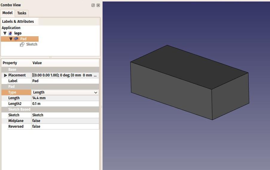 3d打印利器FreeCAD入门教程之二----乐高积木块建模操作篇
